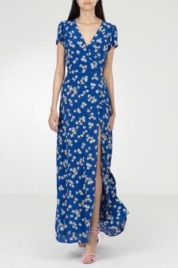 Синее платье-макси с цветочным узором P.a.r.o.s.h. 393145966