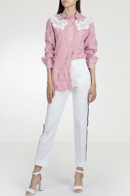 Рубашка в полоску с ажурной отделкой P.a.r.o.s.h. 393145973
