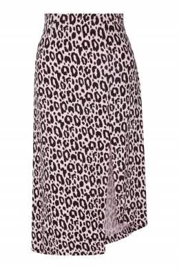 Розовая юбка с леопардовым принтом Maje 888146236