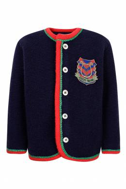 Кардиган с цветной отделкой Gucci Kids 1256146125