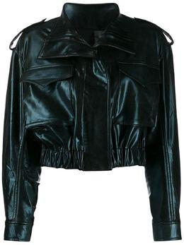 Norma Kamali укороченная куртка из искусственной кожи ST2294FL018001