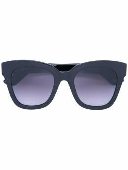 Gucci Eyewear солнцезащитные очки с утолщенной квадратной оправой GG0029S