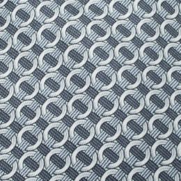 Hermes Grey Ring Print Silk Tie 216076