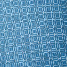 Hermes Blue H Jacquard Patterned Silk Tie 215961