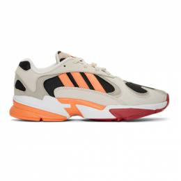 Adidas Originals Beige and Black Yung-1 Sneakers 192751M23708508GB
