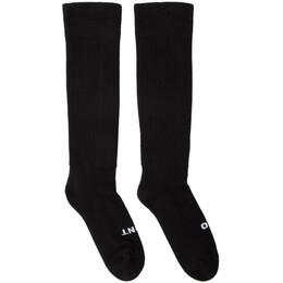 Rick Owens Black So Cunt Knee High Socks 192232F07600102GB