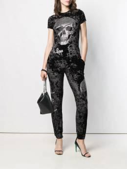 Philipp Plein - спортивные брюки с логотипом Skull CWJT6899PTE663N95653