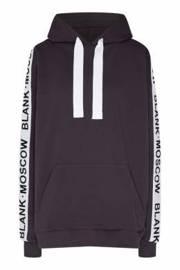 Черное худи с логотипом на рукавах Blank.Moscow 92146758