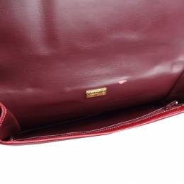 Dior Red Bordeaux Leather Clutch Bag 217104