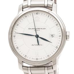 Baume&Mercier Silver Stainless Steel Classima 65615 Men's Wristwatch 39 mm 217639