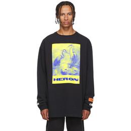 Heron Preston Black Heron Paint Long Sleeve Shirt 192967M21300507GB
