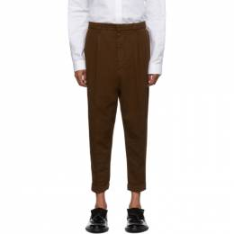Ami Alexandre Mattiussi Brown Oversized Carrot Fit Trousers 192482M19104503GB