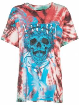 Amiri футболка с узором тай-дай и принтом Skull W9W03305CJ
