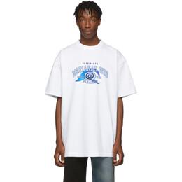 Vetements White Marianas Web T-Shirt 192669M21302205GB
