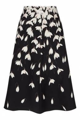 Черная юбка с цветочным принтом Valentino 210146964