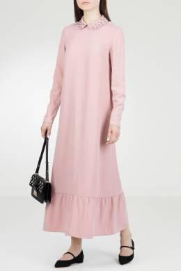 Розовое платье с кристаллами на воротнике Red Valentino 986146852