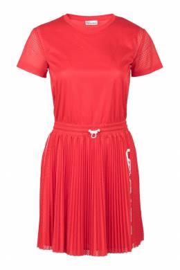 Красное платье-футболка с отделкой Red Valentino 986146856