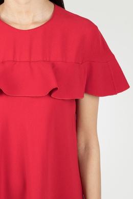 Красное платье-макси с воланами Red Valentino 986146842