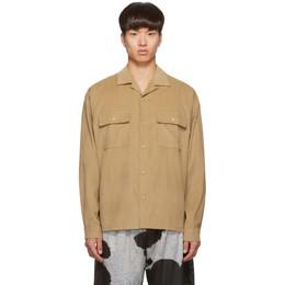 John Elliott Tan Corduroy Snap Shirt 192761M19200304GB