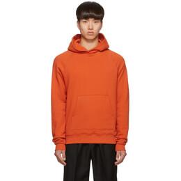 John Elliott Orange Raglan Pullover Hoodie 192761M20202405GB