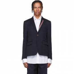 Thom Browne Navy RWB Stripe Unconstructed Blazer 192381M19501101GB