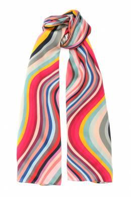 Шелковый шарф с узором Paul Smith 1924144811