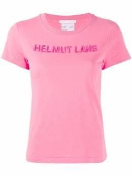 Helmut Lang футболка с вышитым логотипом J06DW502