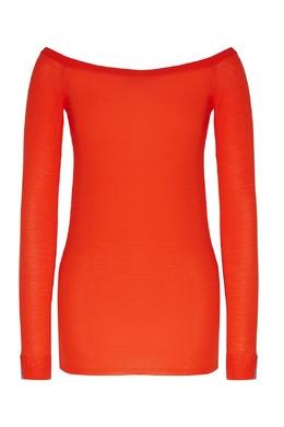 Красный джемпер с широким вырезом Stella McCartney 193147099