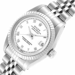 Rolex White 18K White Gold and Stainless Steel Datejust 69174 Women's Wristwatch 26MM 219142