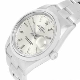 Rolex Silver Stainless Steel Date 15200 Men's Wristwatch 34MM 219055