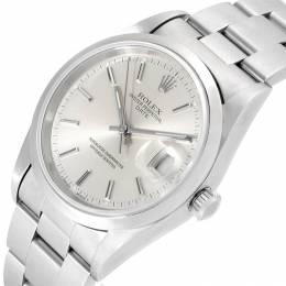 Rolex Silver Stainless Steel Date 15200 Men's Wristwatch 34MM 219056