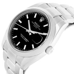 Rolex Black Stainless Steel Date 115200 Men's Wristwatch 34MM 219085