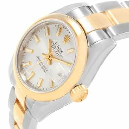 Rolex Silver 18K Yellow Gold and Stainless Steel Datejust 179163 Women's Wristwatch 26MM 219095