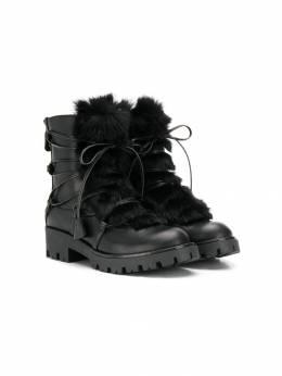 Dsquared2 Kids ботинки с отделкой из искусственного меха 62378