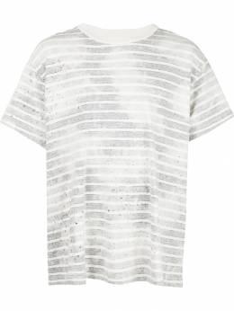 Amiri полосатая футболка с выцветшим эффектом W9M03204CJ