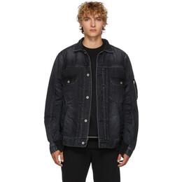 Sacai Black Denim Jacket 19-02063M