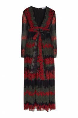 Черное платье с принтом Red Valentino 986146938