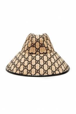 Плетеная шляпа с монограммами Gucci 470147005