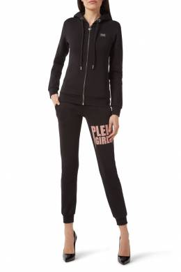 Черные спортивные штаны с надписью Philipp Plein 1795147426