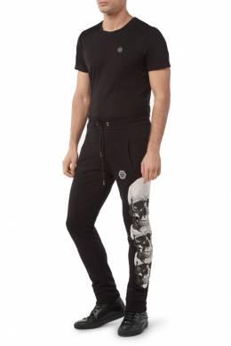 Черные спортивные штаны с принтом Philipp Plein 1795147309