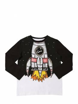 Футболка Из Хлопка С Принтом Stella McCartney Kids 70I6SJ019-MTA3Mw2