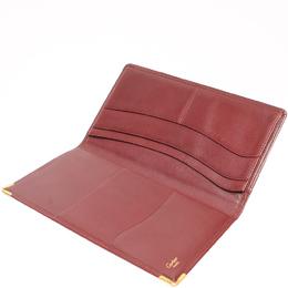 Cartier Red Leather Must de Cartier Long Wallet