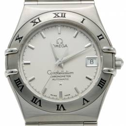 Omega White Dial Stainless Steel Constellation Automatic Watch 34MM