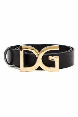 Черный ремень с пряжкой-монограммой Dolce&Gabbana 599146908