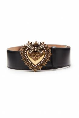 Черный ремень с декоративной пряжкой Dolce&Gabbana 599146986