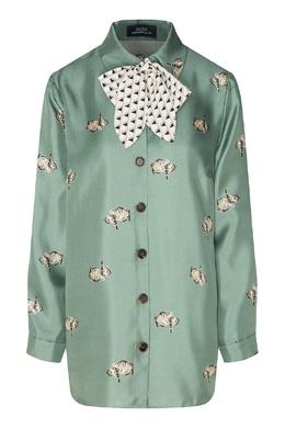 Зелёная блуза с котами Alena Akhmadullina 73147605