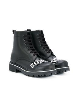 Dsquared2 Kids - высокие ботинки на шнуровке 55953969080000000000
