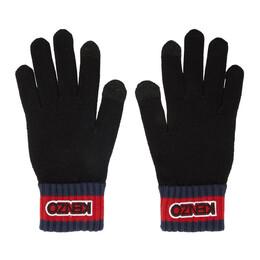 Kenzo Black Logo Tag Gloves 192387M13500201GB