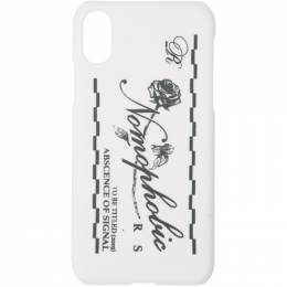 Raf Simons White Nomophobic iPhone X Case 192-942