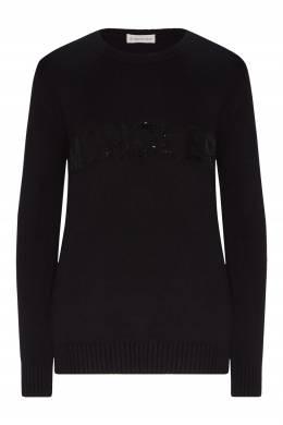 Черный джемпер с логотипом Moncler 34147934